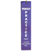 Perfect Practice Ribbon- Purple