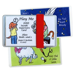 Play Me 100 Suzuki Repertoire Flash Cards, Flute Books 1 & 2