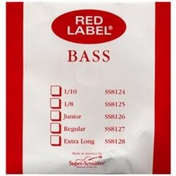 Super Sensitive Red Label Bass A String, Nickel/Steel