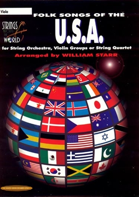 Folk Songs of U.S.A for String Orchestra or String Quartet for Viola