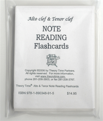 Alto and Tenor Clef Note Reading Flashcards