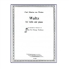 Waltz For violin and piano -  Weber