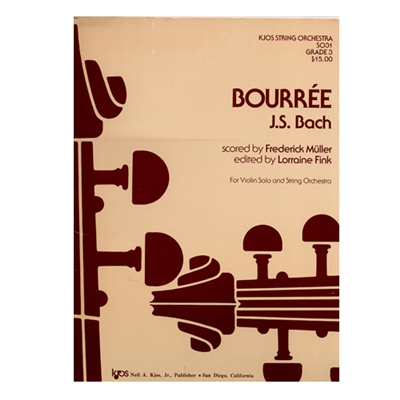 J.S. Bach: Bourrée Parts Violin 3
